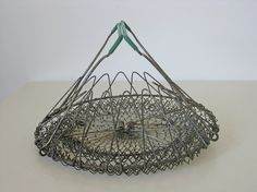 French egg basket collapsible wirework French country by Histoires, $32.50 #basket #egg #french #histoires #etsy