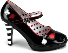 I would totally wear these.  :)  Queen of Hearts shoes by www.go4costumes.com