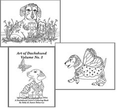 Art of Dachshund Coloring Book Volume No. 3 - Downloadable Version