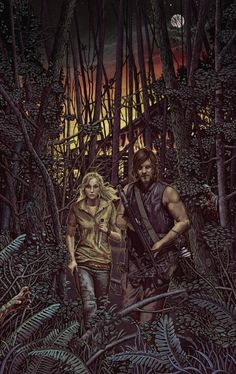 They Didn't Look Back - by Bubug. Beth and Daryl set fire to the Moonshine Shack, creating a fiery distraction as they slip into the night.