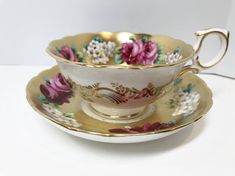 This is an exceptional antique teacup and saucer. Davis Collamore and Co. was a prestigious importer of fine quality items. They rivaled Tiffany and others. They also appeared at the Paris Exposition in 1889. A very interesting history is offered by Wikipedia: