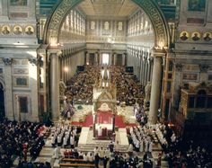 Papal Mass Solemn Papal High Mass In St Peter S Basilica In The Usus Antiquior Catholic