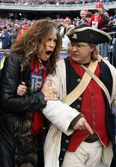 Patriot Fan! i know he's old and starting to resemble a gal a bit...but Steven Tyler, cmon,  will forever be immortal, dlish, and from Boston and a Pats fan.