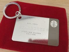 Starbucks Sterling silver card
