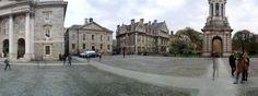 Amazing panorama of Trinity college