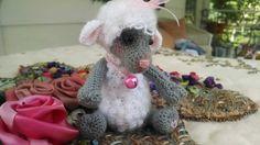Collectible artist thread crochet lamb bear by SweetHeartThreads, $35.00