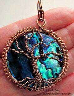 Night Sky Tree of Life Pendant - Art Fire - kjs Wire Wrapped Jewelry, Metal Jewelry, Beaded Jewelry, Handmade Jewelry, Jewlery, Tree Of Life Jewelry, Tree Of Life Pendant, Wire Pendant, Pendant Jewelry
