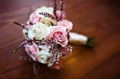 This simple bouquet remains soft even with tiny spiky flowers poking out. Photo by Stephanie Fowler