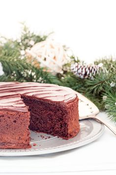A genoise is a light and airy cake with a delicate texture, but stays wonderfully moist and doesn't dry out like other sponge cakes. This chocolate version has all the richness of chocolate while sti Genoise Cake, Chocolate Heaven, Sponge Cake, Allrecipes, Pie, Pudding, Hero, Baking, Desserts