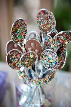 Chocolate sprinkle spoons!