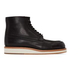 Sacai Black Hender Scheme Edition Leather Boots Leather Boots, Streetwear, Leather Shoes