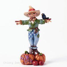 Jim Shore Mini Scarecrow 4041466 Thanksgiving Harvest Autumn NEW