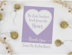 From The Heart Personalised Teacher Card