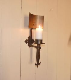 Original vintage French hand made cast iron wall by LeCrazyHorse