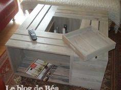 Table basse avec des caisses • Hellocoton.fr