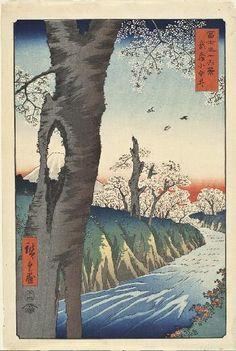 Koganei, Musashi Province, 1858 Ando Utagawa Hiroshige Japanese, 1797-1858Color woodblockoban tate-e, sheet: 14-9/16 x 9-3/4 in. (37.0 x 24....