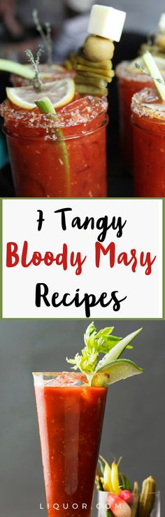 You need to try these variations on the #classic #bloody #mary #cocktail