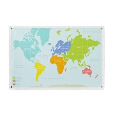 Kids' Posters, Prints & Art: Kids Colorful World Map Banner in Unframed Wall Art