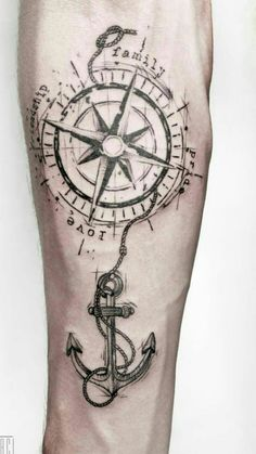of Rosa dos Ventos tattoos Map Tattoos, Bild Tattoos, Arrow Tattoos, Forearm Tattoos, Rose Tattoos, Arm Band Tattoo, Body Art Tattoos, Tattos, Compass Rose Tattoo
