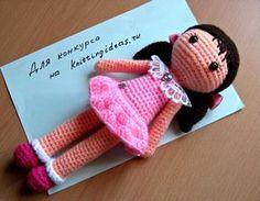 Девочка в розовом, куколка крючком