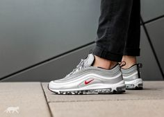 nike air max 97 ultra silver bullet on feet