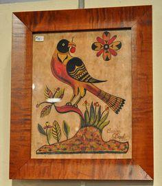 Fraktur bird -- Pennsylvania Dutch style of painting.