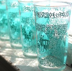 6 Hazel Atlas Monticello Tumblers in Turquoise by TheLadenBranch