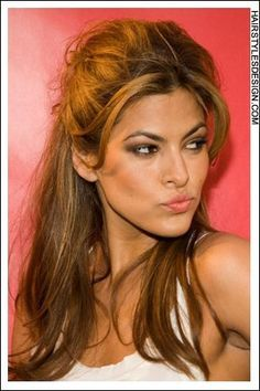 eva mendes hair layers - Google Search