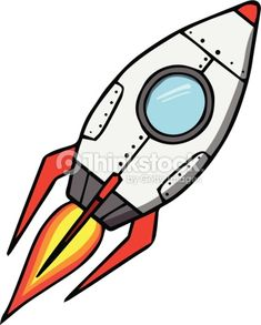 Space rocket. Cartoon vector illustration