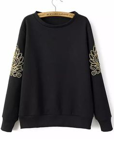 Embroidered Bead Loose Sweatshirt 19.00
