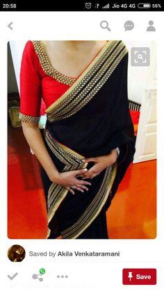 Find Pretty Orange Blouse Designs For Sarees Here Lace Saree, Saree Dress, Sari Blouse, Silk Sarees, Saree Blouse Patterns, Saree Blouse Designs, Indian Attire, Indian Wear, Indian Dresses