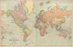 World map printable digital download.Vintage World Map. Old World Map-Vintage Art Image - Instant Digital Download.PRINTABLE map.MAP DIGITAL