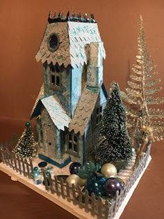 What I did today: Major Manor Building Programme Christmas Paper, Christmas Home, Vintage Christmas, Christmas Crafts, Christmas Decorations, Christmas Ornaments, Holiday Decor, Christmas Village Houses, Putz Houses