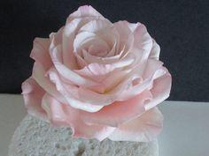large rose cake topper wedding bridal pink lavender gumpaste edible sugar flowers mothers day keepsake flower floral arrangement by SweetpeaSugarArt on Etsy https://www.etsy.com/listing/114993613/large-rose-cake-topper-wedding-bridal