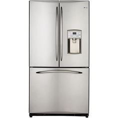GE French Door Bottom #Freezer Stainless Steel Color #Refrigerator (Our Price: $2499.99).