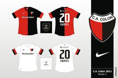 CA Colon De Santa Fe of Argentina home and away shirts for Home And Away, Football, Sports, Tops, Fashion, Argentina, T Shirts, Soccer, Moda