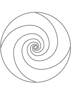spiral coloring pages to print | Spiral Mandala Coloring Pages Sketch Coloring Page