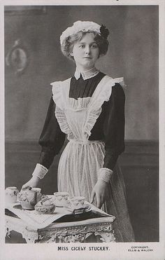 Maid serves tea