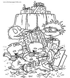 Rugrats - Tommy and grandpa coloring page #Nickelodeon #90s | Color ...