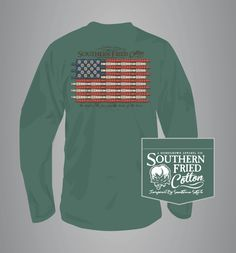 Southern Fried Cotton Duck Call Flag Long Sleeve T-Shirt