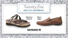 Today is day 6 of #25DaysofGiveaways – we're just getting started!  Originating from France, Mephisto is a company that remains dedicated to quality materials and construction techniques. Enter here to win a pair.