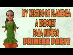 YouTube Diy Vestido, Wellie Wishers, Barbie And Ken, Youtube, Pattern, Character, Barbie Dress, Baby Dolls, Crochet Doll Dress