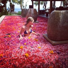 A dip in the flowers. by jessicakistermann