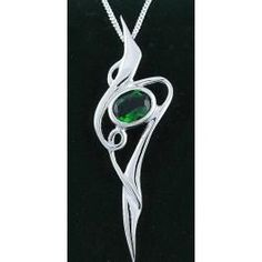 I found '14K White Gold Solid Silver Emerald Celtic Pendant Necklace' on Wish, check it out!