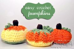 Easy Crochet Pumpkins {free pattern} http://mymerrymessylife.com/2012/10/my-merry-messy-life-easy-crochet-pumpkins-free-pattern.html