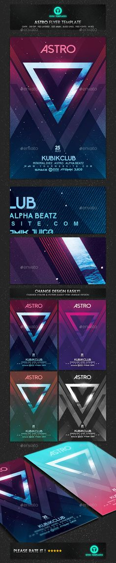 Minimal Electro Abstract Flyer Template