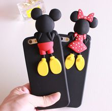 Cartoon 3d minnie mickey mouse terug hoofd soft siliconen telefoon cover case voor huawei ascend p8 lite(China (Mainland))