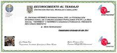 Reconocimientos 2014: Ber Hernández. Distinción Rafael Morales Caballero