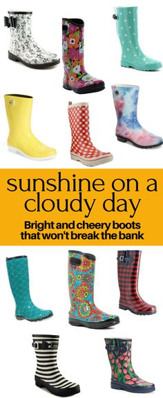 dda3983657c Bright and cheery rain boots that you can actually afford! Flowers