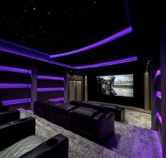 media room ideas home theaters Top 40 Best Home Theater Lighting Ideas - Illuminated Ceilings and Walls Home Theater Lighting, Home Theater Room Design, Home Cinema Room, Best Home Theater, At Home Movie Theater, Home Theater Rooms, Media Room Seating, Extravagant Homes, Media Room Design